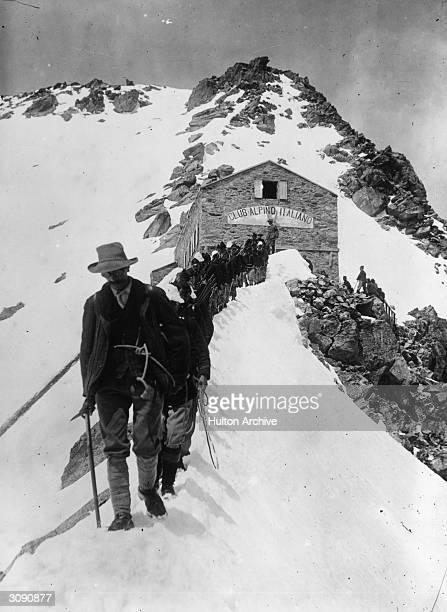 Members of an Italian Alpine Regiment