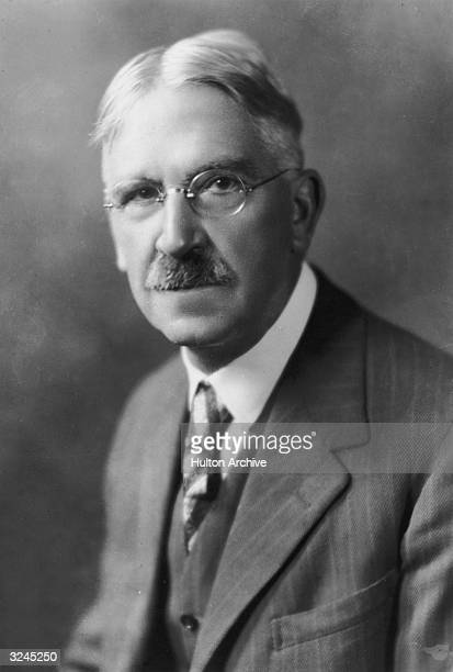 Studio portrait of American educator philosopher and author John Dewey