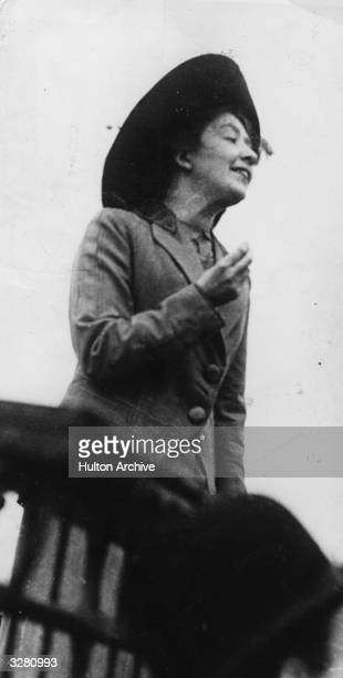 Sylvia Pankhurst suffragatte author and propagandist speaking