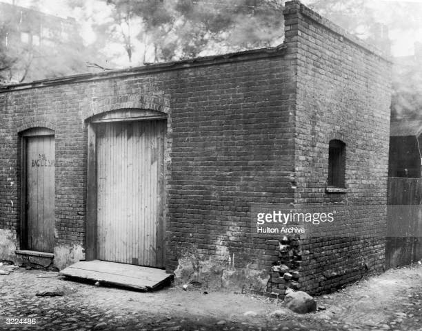 View of the rented garage in which Henry Ford invented and assembled his first automobile 58 Bagley Avenue Detroit Michigan