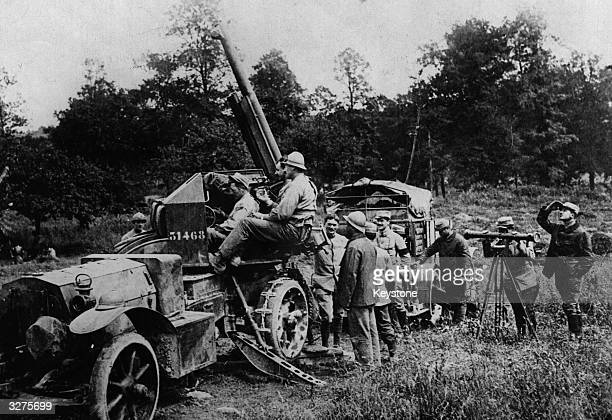 A mobile antiaircraft gun used by French forces on the Somme
