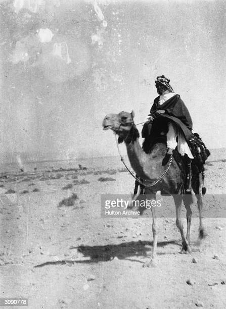 British adventurer soldier and author Colonel Thomas Edward Lawrence the leader of the Arab revolt against the Ottoman Empire better known as...