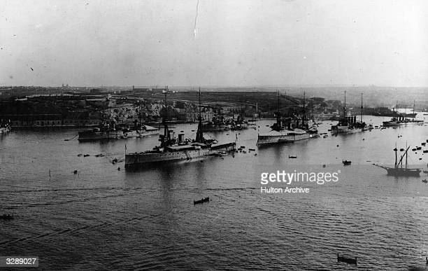 English and French fleets in the Grand Harbour in Malta