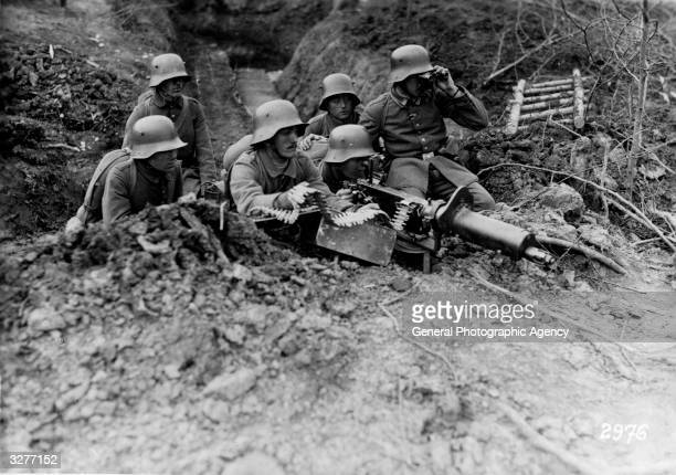 German machine gun corps protecting the flank of advancing troops.
