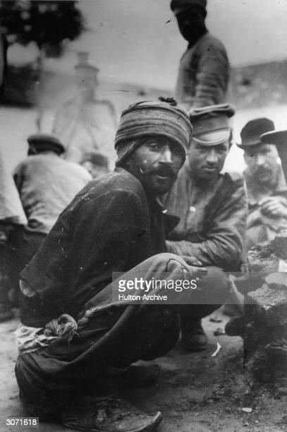 Prisonersofwar in an Austrian POW camp during World War I
