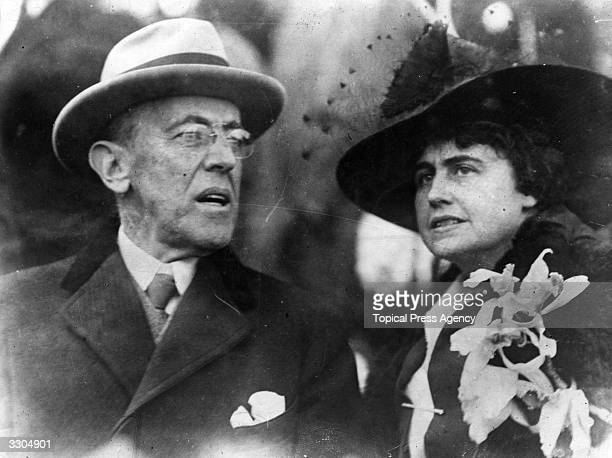 The 28th President of the United States Woodrow Wilson .