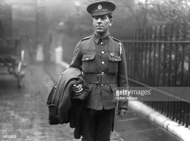 The British soldier Drummer Bent wearing his Victoria Cross