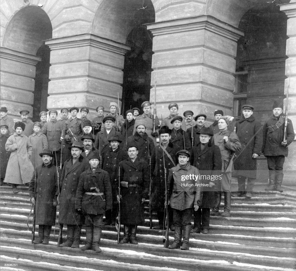 A detachment of Red Guards at Petrograd (St Petersburg). Original Publication: Russian Album