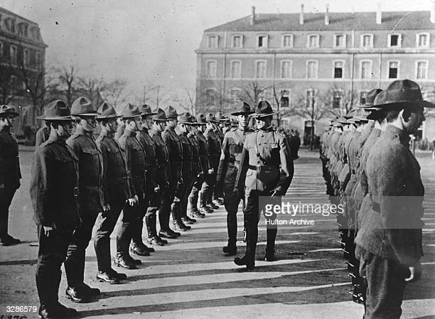 American General Pershing on a tour of inspection his nickname was 'Black Jack'