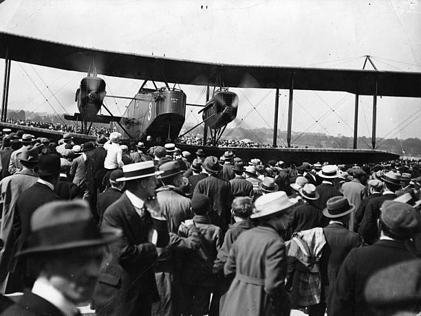 A Handley Page bomber,which was later modified for...