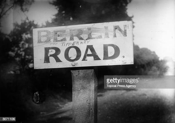 A sign for the Berlin Road which has been renamed Tipperary