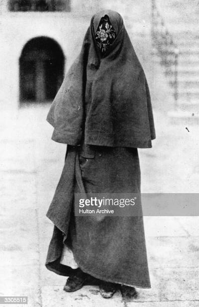 British soldier, adventurer and author Thomas Edward Lawrence known as Lawrence Of Arabia disguised as a Syrian gypsy woman in enemy territory,...