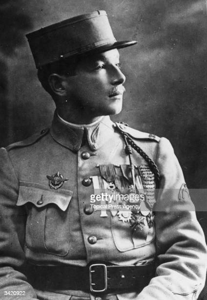 Captain Rene Fonck French WW I air ace and transatlantic aviator He had 75 'kills' in WW I the highest number of any allied pilot