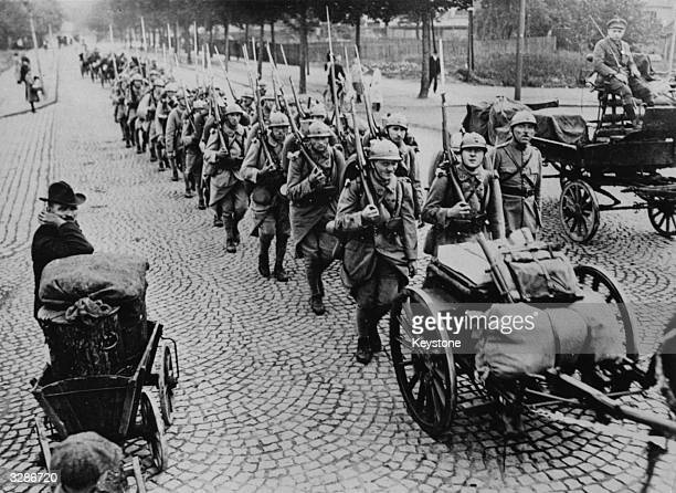 French troops march into Essen