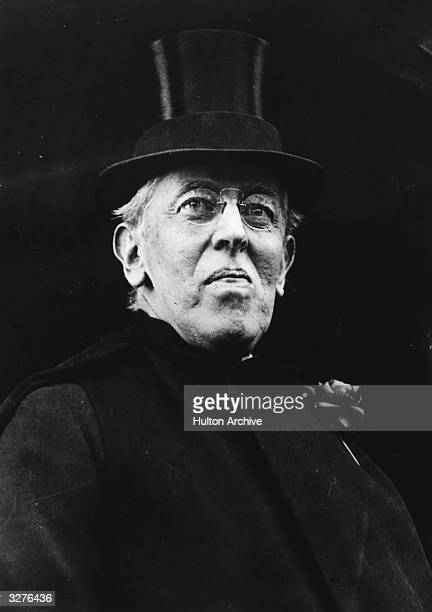 Woodrow Wilson the 28th President of the United States in top hat