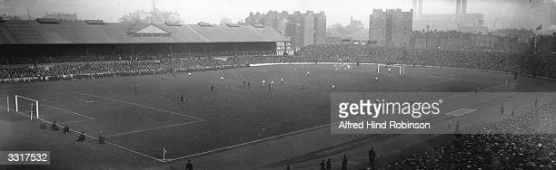 A general view of a match in progress at Chelsea's Stamford Bridge ground