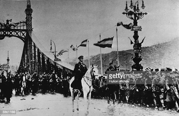 Nikolaus Horthy de Nagybanya minister of war in the 'white government' leading the National Army into Budapest in 1919 where he was later proclaimed...