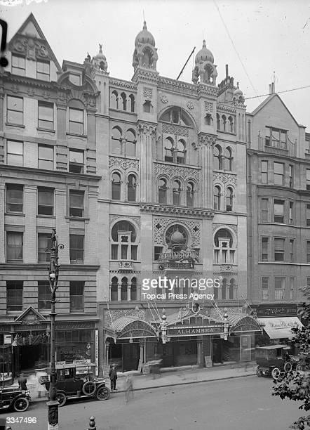 The Alhambra Music Hall theatre on Charing Cross Road central London It was demolished in 1936 to build the Odeon cinema Leicester Square
