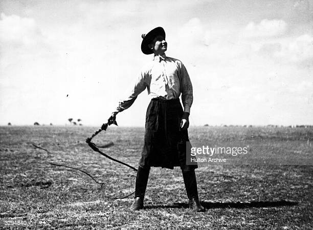 A Hungarian gaucho brandishes a whip