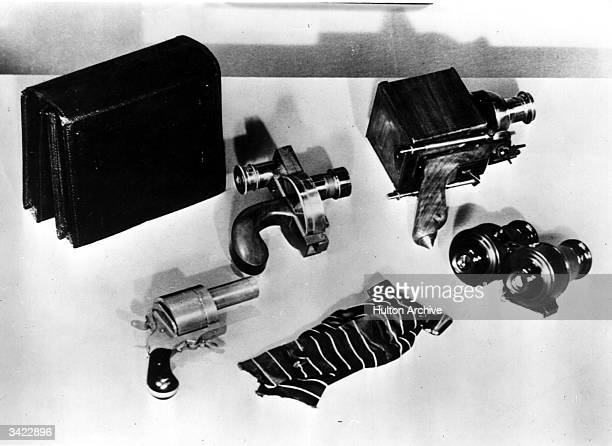 A selection of early detective cameras