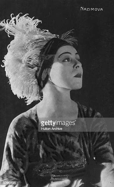 Alla Nazimova the Russian born Hollywood film star and actress who made a number of films in America