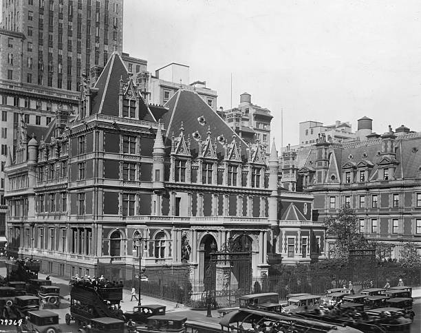 An exterior view of the Cornelius Vanderbilt Mansion,...
