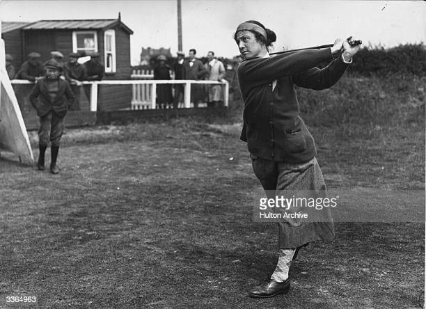 Cecil Leitch taking part in English Ladies Golf at Sheringham.