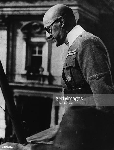 Gabriele d'Annunzio an Italian writer adventurer and political leader seen in uniform