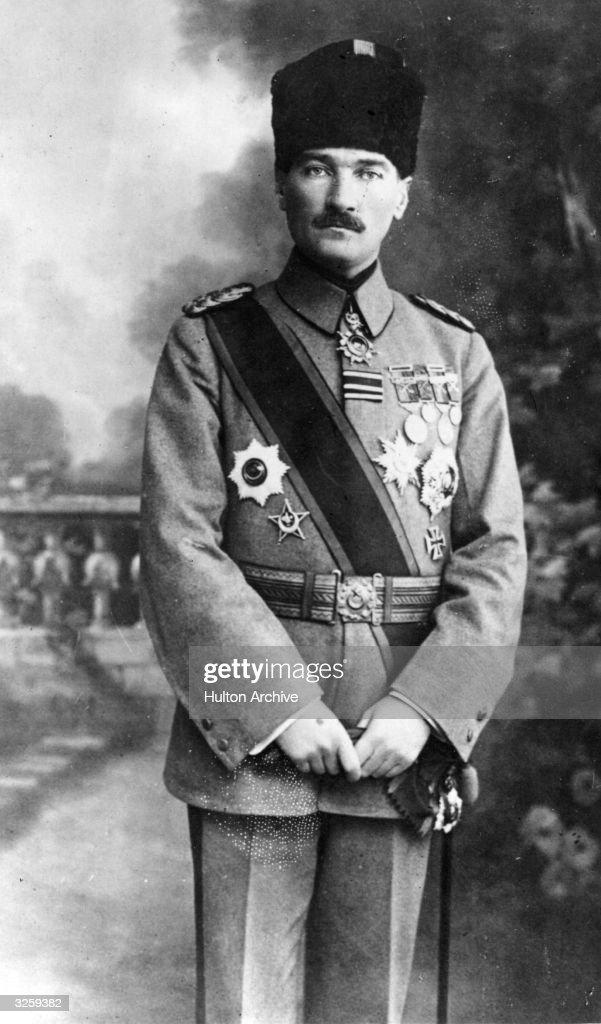 Kemal Ataturk (1881 - 1938), born Mustafa Kemal, Turkish national leader and founder of modern Turkey.
