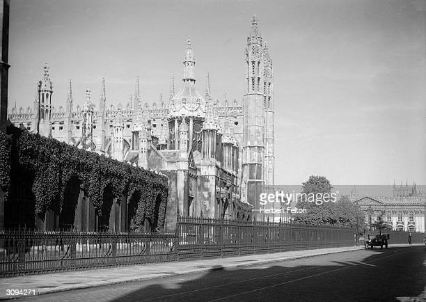 King's College, Cambridge. The Senate House, with the tower of St John's behind it, is on the right.