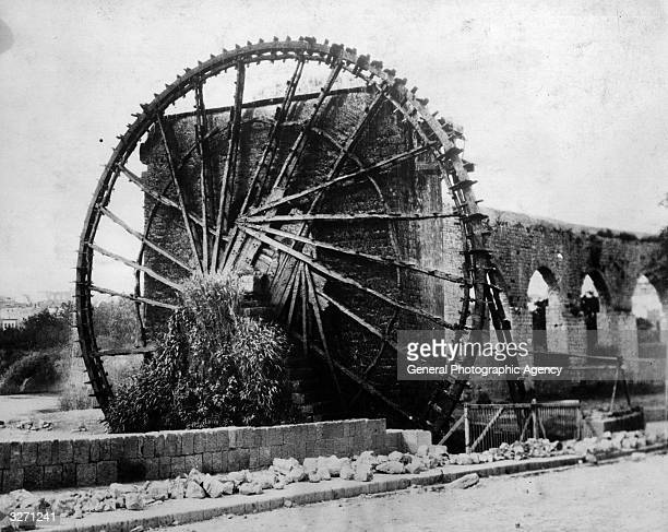 One of the world's largest water wheels at Hama in Syria which has been running continuously for 900 years