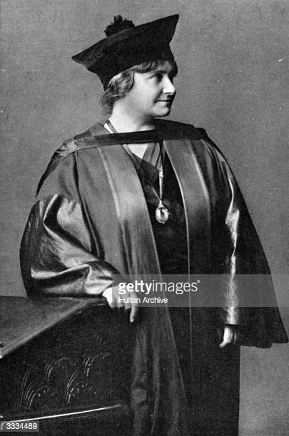 Professor Maria Montessori in academic gown She was the first woman to obtain a medical degree in Italy from the University of Rome and developed the...