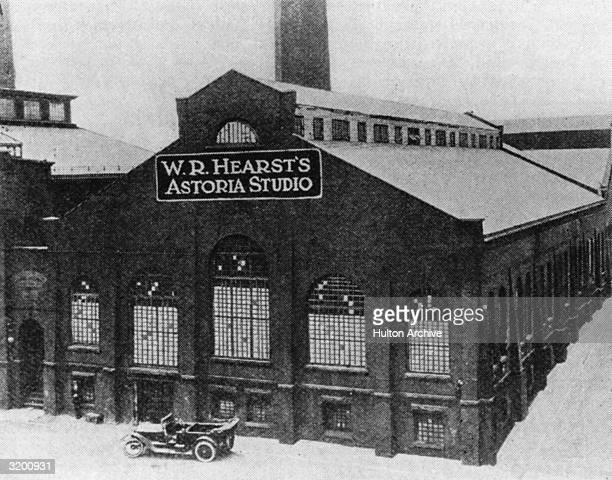 The exterior of the WR Hearst Astoria Film Studio located in Astoria Queens New York