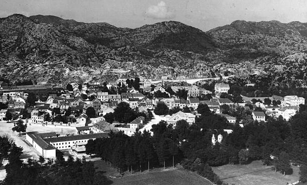 The Yugoslavian town of Cetinje, in Montenegro.
