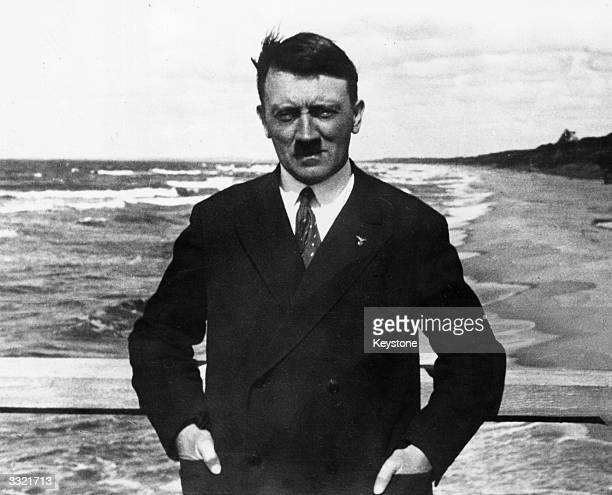 German dictator Adolf Hitler on board a ferry in the Baltic Sea