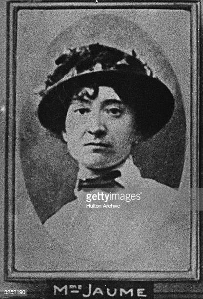 Madame Jaume one of the victims of murderer Henri Desire Landru Known as the French 'Bluebeard' Landru was found guilty of the murder of ten women...