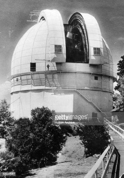 The Hooke Reflector at The Mount Wilson Observatory, near Pasadena, California.