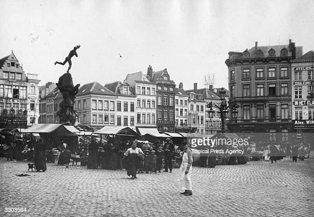 The market square in Antwerp