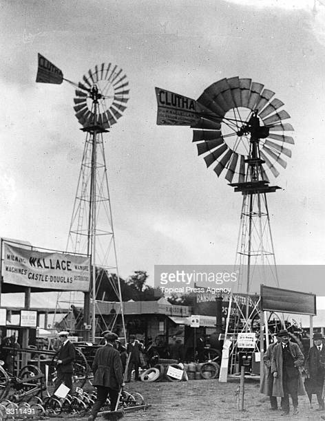 Windmills used for making electricity on show at the Highland Agricultural Show Stirling