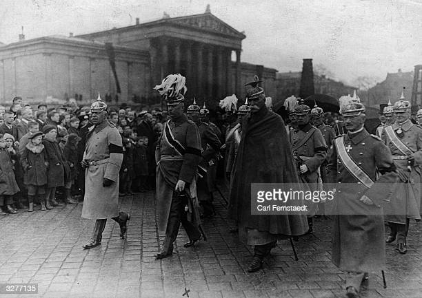 German World War I General Erich Ludendorff with senior Prussian Officers