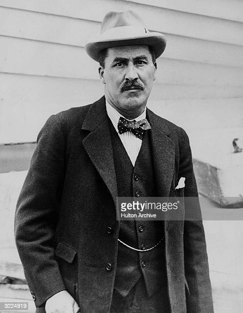 Portrait of British archaeologist Howard Carter who in 1922 under the patronage of George Herbert discovered the Tomb of Tutankhamen in the Valley of...