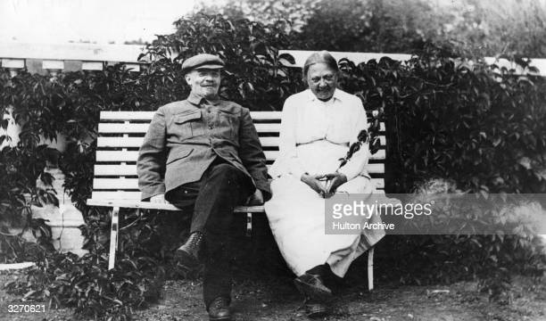 Russian revolutionary Vladimir Ilyich Lenin at home with his wife Krupskaya He deposed Nicholas II with German help and inaugurated the dictatorship...