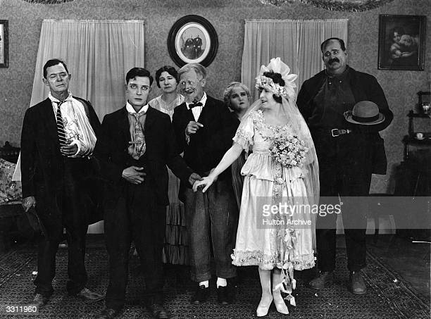 A wedding scene from the film 'Our Hospitality' with Buster Keaton as the groom