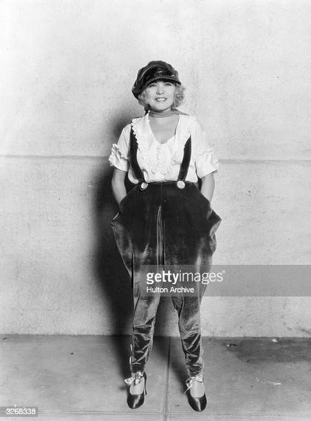 Renee Adoree formerly Jeanne De La Fonte the French leading lady and former circus bareback rider who was contracted to MGM She is wearing dungarees...