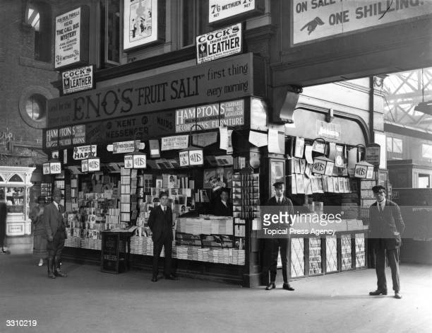 The WH Smith bookstall at Charing Cross Station in London