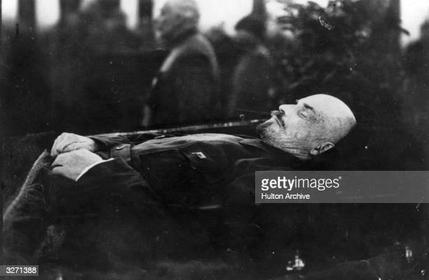 Vladimir Ilyich Lenin lying in state in the Kremlin