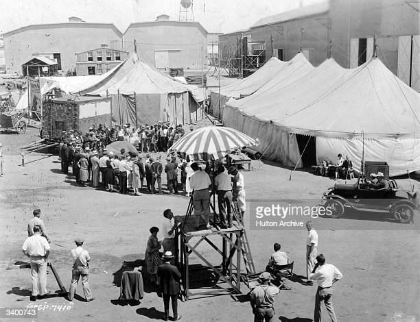 Circus scene being filmed for the MGM silent comedy 'The Great Love', directed by Marshall Neilan.