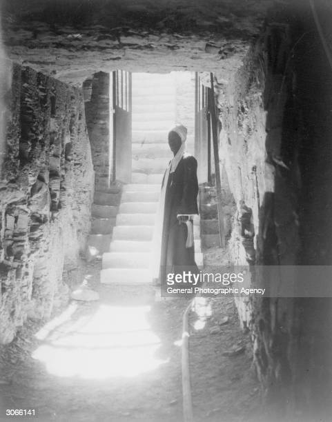 A corridor to a stairway in Tutankhamen's tomb in the Valley of the Kings through which Howard Carter and Lord Carnarvon entered to begin their...