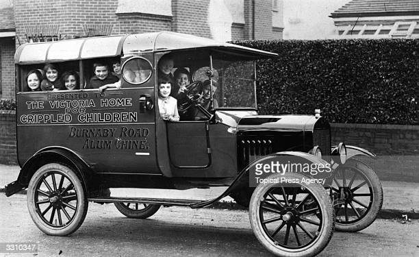 A motor car given as a gift to the Crippled Children's Home at Alum Chine West Bournemouth
