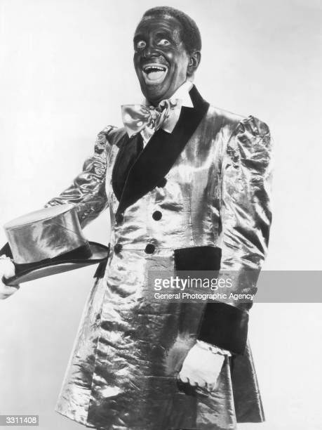 A portrait of Al Jolson the original head of Christy's Minstrels